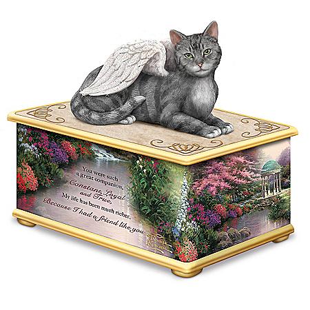 Thomas Kinkade's My Forever Friend Keepsake Cat Ash Box