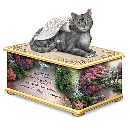 Thomas Kinkade's My Forever Friend Keepsake Cat Ash Box