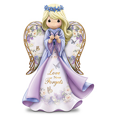 Precious Moments Angel Figurine with Lena Lui Art Supports Alzheimer's Research