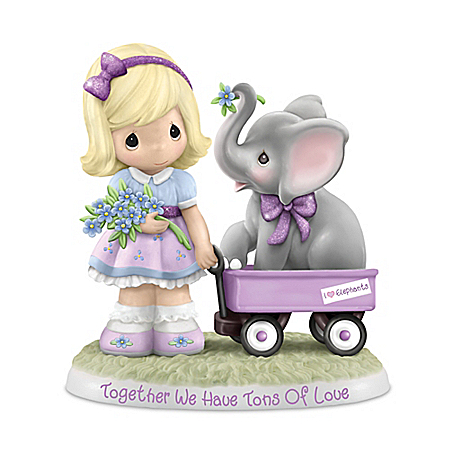 Precious Moments Porcelain Elephant Figurine Supports Alzheimer's Research