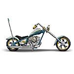 American Spirit Rider Hand-Painted Motorcycle Sculpture