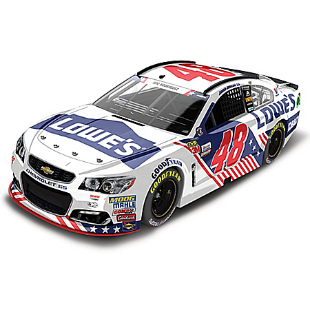 Jimmie Johnson No. 48 Lowe's Patriotic 2017 NASCAR 1:24-Scale Diecast Car