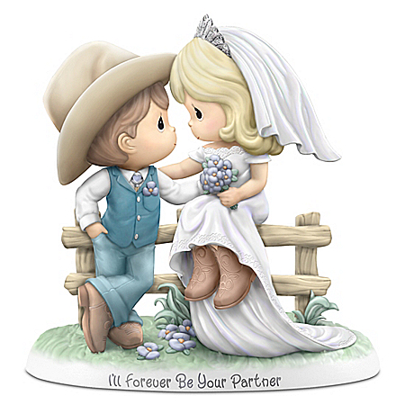 Precious Moments I'll Forever Be Your Partner Porcelain Country Wedding Figurine