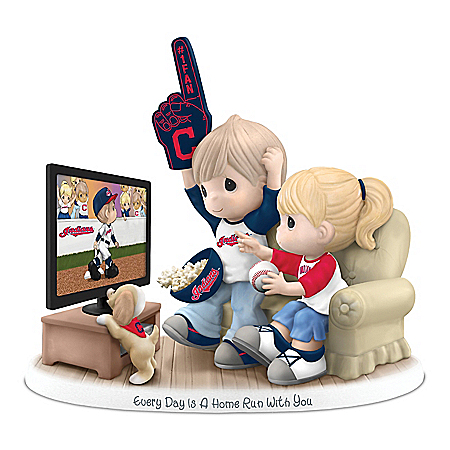 Precious Moments Every Day Is A Home Run With You Cleveland Indians Figurine