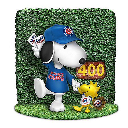 Snoopy And Woodstock Chicago Cubs Fan Figurine