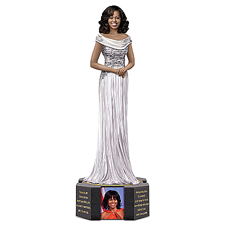 Limited Edition Michelle Obama By Keith Mallett Figurine With A Swarovski Crystal