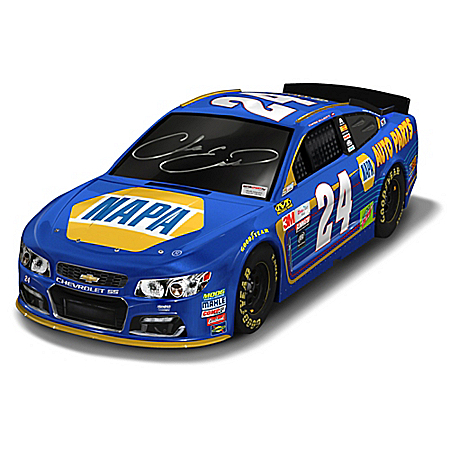 Chase Elliott Autographed 2017 NAPA Chevy SS 1:18 Scale Car Sculpture: 1 of 150