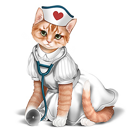 Nurses Are Su-purr Heroes Cat Figurine
