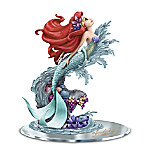 Disney's The Little Mermaid Ariel - Beauty Under The Sea Hand-Painted Figurine With Mirror Base