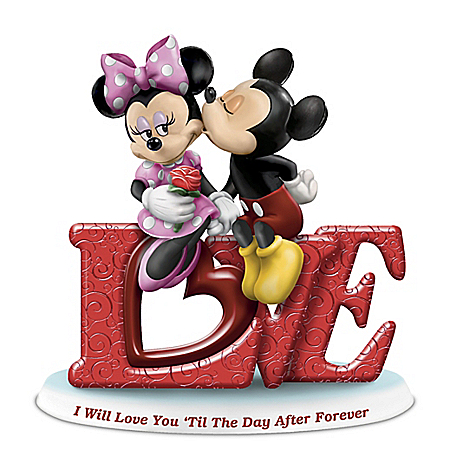 I Will Love You 'Til The Day After Forever Mickey Mouse & Minnie Mouse Figurine