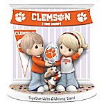 Precious Moments Together We're A Winning Team Clemson University Tigers Figurine