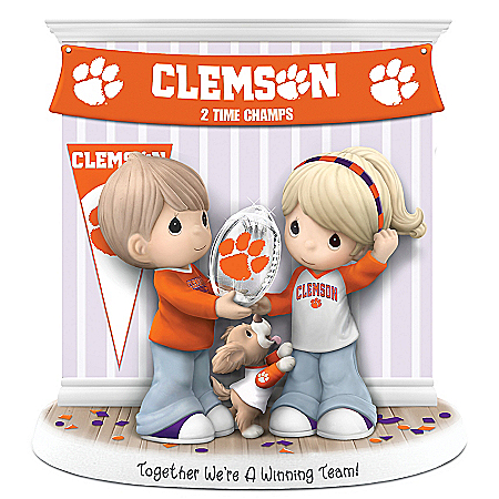 Together We're A Winning Team Clemson Tigers Precious Moments Figurine
