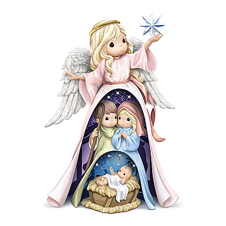 Precious Moments Holy Family Handcrafted Nativity Nesting Figurine Set
