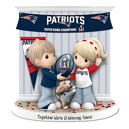 Precious Moments Together We're A Winning Team New England Patriots NFL Figurine