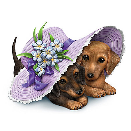 Love Is Paw-Ever Alzheimer's Awareness Dachshunds Figurine