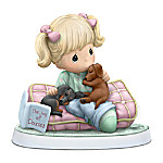 Samuel J. Butcher Precious Moments Home Is Where My Dachshunds Are Hand-Painted Figurine
