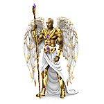 Keith Mallett Wisdom Of The Amethyst Hand-Painted Angel Sculpture