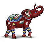 Cloisonne Hand-Painted Elephant Figurine
