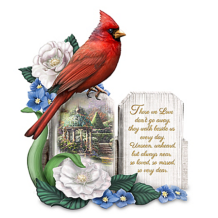 The Bradford Exchange Online - Thomas Kinkade A Love So Dear Sculpted Cardinal Figurine Photo