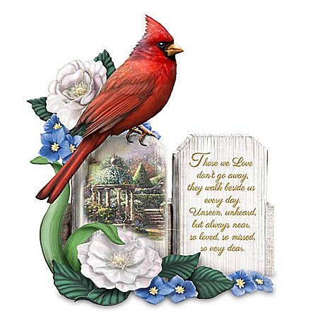 Thomas Kinkade A Love So Dear Sculpted Cardinal Figurine