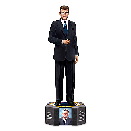 The Bradford Exchange Online - President John F. Kennedy Limited Edition Tribute Figurine Photo