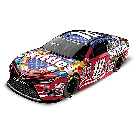 Kyle Busch No. 18 Skittles Red, White And Blue Monster Energy 2017 NASCAR 1:24 Scale Diecast Car