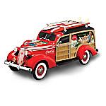 1 - 18-Scale COCA-COLA Cruising To Refreshment Woody Wagon Sculpture