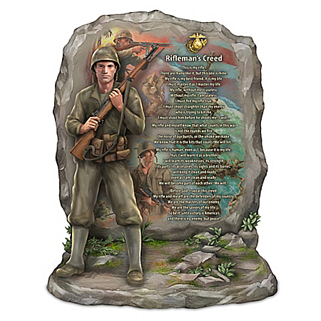 James Griffin U.S.M.C This Is My Rifle Rifleman's Creed Sculpture