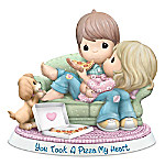 Precious Moments You Took A Pizza My Heart Bisque Porcelain Figurine