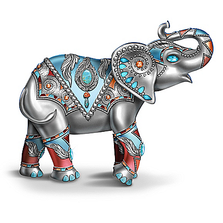 Sterling Strength Native American-Inspired Elephant Figurine
