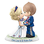 Precious Moments Chicago Cubs Our Love Is A Home Run MLB Figurine