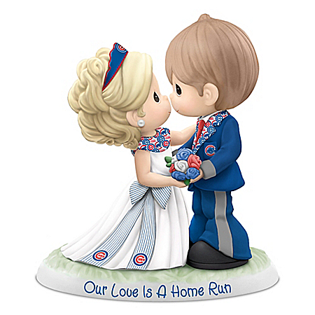 Precious Moments Our Love Is A Home Run Chicago Cubs MLB Figurine 907533001