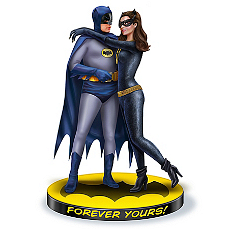 WARNER BROS. Forever Yours: BATMAN and CATWOMAN Hand-Painted Sculpture