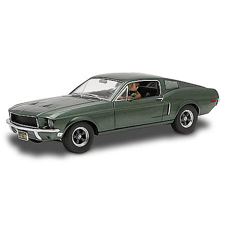 1:18-Scale Ford Mustang GT Fastback '68 Bullitt Diecast Car With Steve McQueen Action Figure