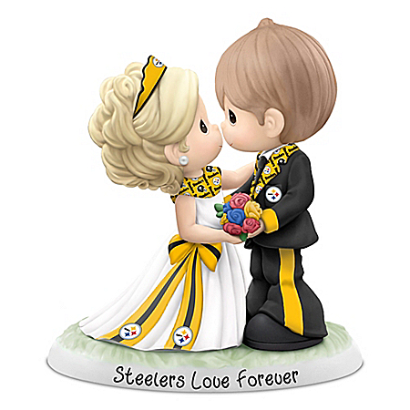 Precious Moments NFL Pittsburgh Steelers Love Forever Wedding Figurine