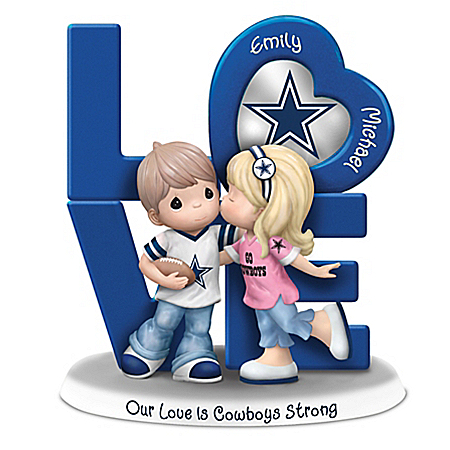 Precious Moments Our Love Is Dallas Cowboys Strong Personalized Figurine