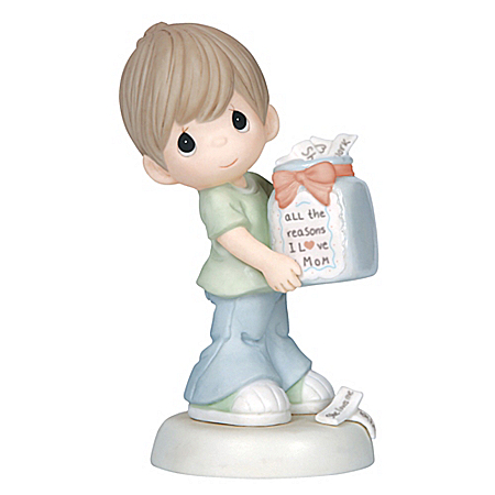 The Bradford Exchange Online - Precious Moments All The Reasons I Love Mom Bisque Porcelain Figurine Photo