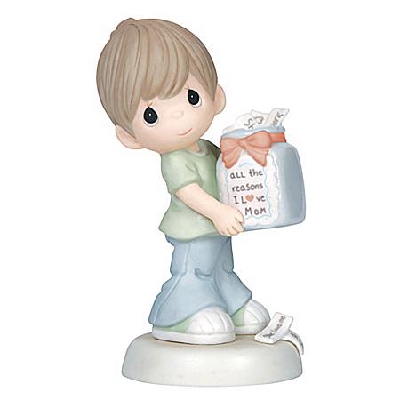 Precious Moments All The Reasons I Love Mom Bisque Porcelain Figurine