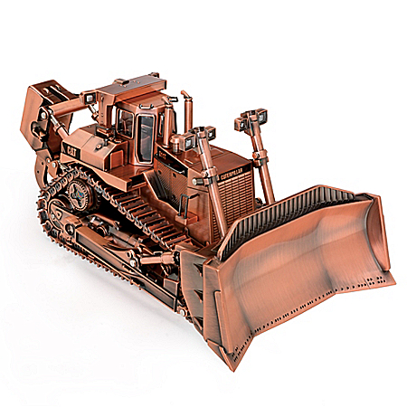 1:50-Scale Caterpillar D11T Track-Type Copper-Plated Finish Diecast Tractor