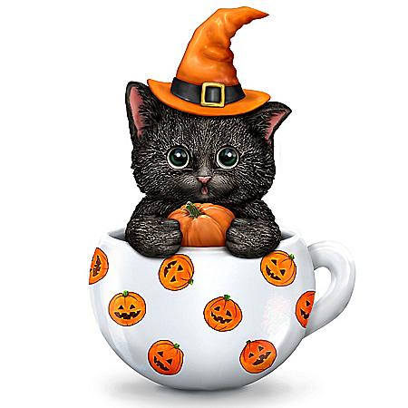 Kayomi Harai Sweet & Spooky Halloween Cat Figurine