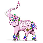 Be Strong And Courageous Breast Cancer Awareness Elephant Figurine