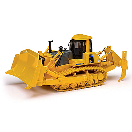 1:50-Scale Komatsu D375A Crawler With Blade Diecast Tractor With Commemorative Belt Buckle