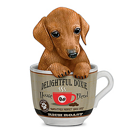 Kayomi Harai Delightful Doxie Dachshund Coffee Mug Figurine