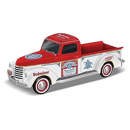 Officially Licensed Budweiser 1:42 Scale Pickup Truck Sculpture with Logos