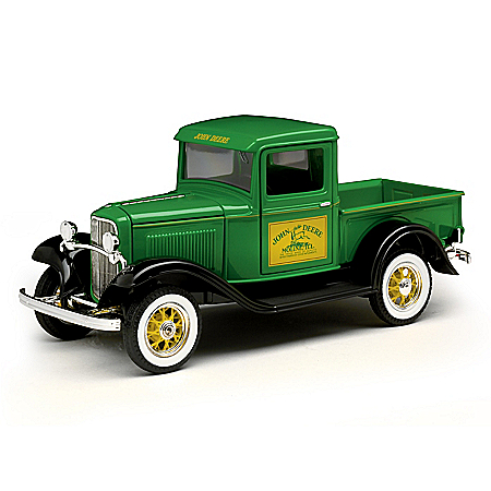 The Bradford Exchange Online - 1:25-Scale 1932 John Deere Ford Diecast Truck With Metal Belt Buckle Included Photo