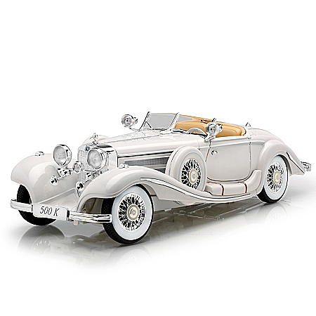 1:18-Scale 1936 Mercedes-Benz 500K Special Roadster Diecast Car