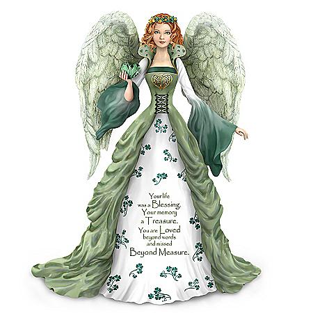 Thomas Kinkade A Love Beyond Measure Irish-Inspired Angel Figurine