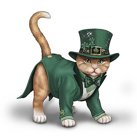 Blake Jensen Feline Lucky Hand-Painted Cat Figurine