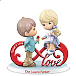 Precious Moments Our Love Is Forever Personalized Infinity Symbol Figurine
