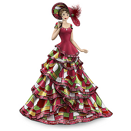 COCA-COLA Shining Elegance Hand-Painted Figurine